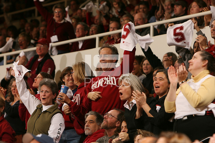 22 December 2007: Fans during Stanford's 73-69 win over Tennessee at Maples Pavilion in Stanford, CA.