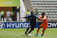 17th November 2019; Bezerrao Stadium, Brasilia, Distrito Federal, Brazil; FIFA U-17 World Cup football 3rd placed game 2019, Netherlands versus France; Sontje Hansen of Netherlands held off by Nianzou Kouassi of France - Editorial Use