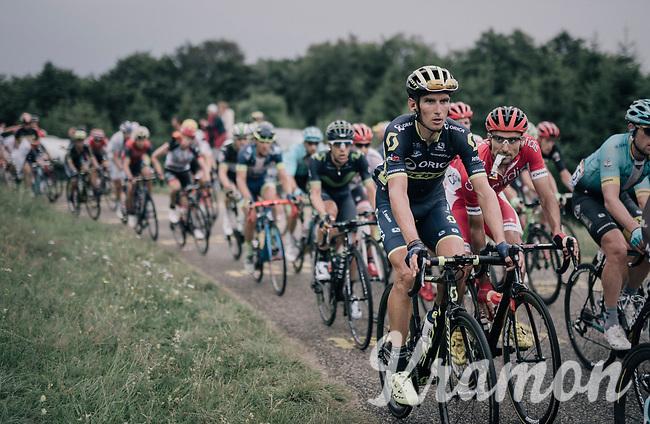 Roman Kreuziger (CZE/ORICA-Scott) in teh peloton up the first HC climb of the day; the Col de la Biche (10.5km @9%)<br /> <br /> 104th Tour de France 2017<br /> Stage 9 - Nantua &rsaquo; Chamb&eacute;ry (181km)