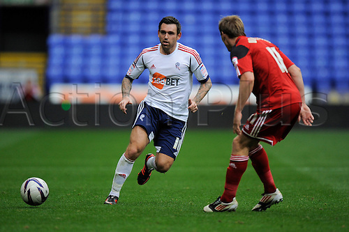 20.10.2012 Bolton, England.Mark Davies of Bolton  in action during the Championship game between Bolton Wanderers and Bristol City from the Reebok Stadium.