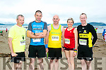 At the Maharees Brandon Bay Half Marathon on Saturday were l-r  Brendan Buckley, Johnny Blute, Johnny Sexton, Brigita Lukste and Ken Hickey.