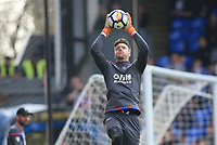 Wayne Hennessey of Crystal Palace during the warm up of Crystal Palace vs Brighton & Hove Albion, Premier League Football at Selhurst Park on 14th April 2018