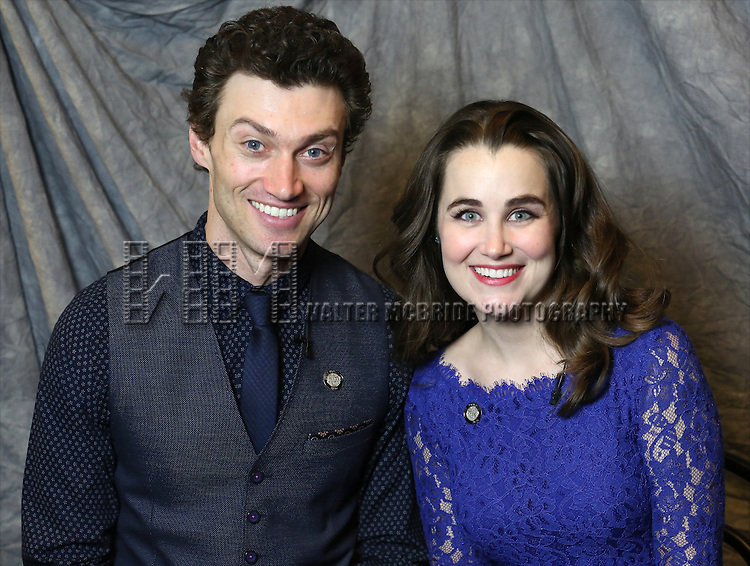 Bryce Pinkham and Lauren Worsham attends the 2014 Tony Awards Meet the Nominees Press Junket at the Paramount Hotel on April 30, 2014 in New York City.
