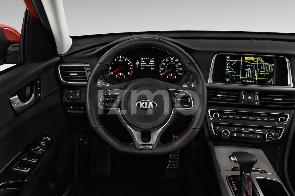 Car pictures of steering wheel view of a 2016 KIA Optima SX 4 Door Sedan Steering Wheel