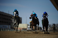 OZONE PARK, NY - APRIL 07: on Wood Memorial Stakes Day at Aqueduct Race Track on April 7, 2018 in Ozone Park, New York. (Photo by Sue Kawczynski/Eclipse Sportswire/Getty Images)
