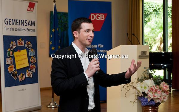 Brussels-Belgium - April 24, 2013 -- 'A Marshall Plan for Europe', a presentation / speech by Michael Sommer, President of the German Trade Union Confederation (DGB, Deutscher Gewerkschaftsbund), at the Representation of Baden-Württemberg to the EU; here, Stefan GRAN, Director of the Representation Office of the DGB to the EU -- Photo: © HorstWagner.eu
