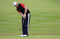 Todd Sinnott (AUS) putts on the 1st green during Saturday's Round 3 of the 2017 Omega European Masters held at Golf Club Crans-Sur-Sierre, Crans Montana, Switzerland. 9th September 2017.<br /> Picture: Eoin Clarke | Golffile<br /> <br /> <br /> All photos usage must carry mandatory copyright credit (&copy; Golffile | Eoin Clarke)