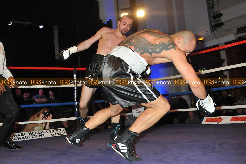 Chris Baugh (black shorts) defeats Georgi Valevski - Boxing at the Camden Centre, London - 07/03/15 - MANDATORY CREDIT: Philip Sharkey/TGSPHOTO - Self billing applies where appropriate - contact@tgsphoto.co.uk - NO UNPAID USE