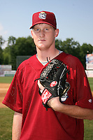 June 24, 2009:  Pitcher Brett Brach of the Mahoning Valley Scrappers during a game at Eastwood Field in Niles, OH.  The Scrappers are the NY-Penn League Short-Season Single-A affiliate of the Cleveland Indians.  Photo by:  Mike Janes/Four Seam Images