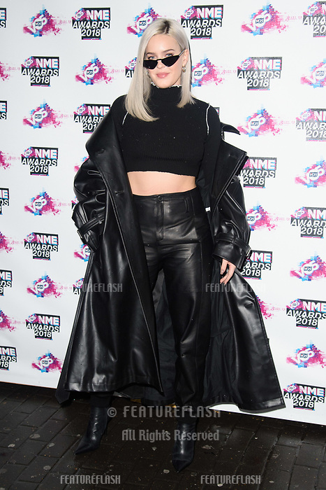 Ann Marie at the VO5 NME Awards 2018 at the Brixton Academy, London, UK. <br /> 14 February  2018<br /> Picture: Steve Vas/Featureflash/SilverHub 0208 004 5359 sales@silverhubmedia.com