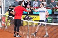 Spanish Fernando Verdasco and Italian Paolo Lorenzi during Mutua Madrid Open 2018 at Caja Magica in Madrid, Spain. May 08, 2018. (ALTERPHOTOS/Borja B.Hojas) /NortePhoto.com
