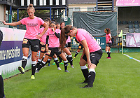 Aalst players pictured during warm up before a female soccer game between Eendracht Aalst and Dames Club Brugge YLA on the first matchday of the 2020 - 2021 season of Belgian Women's SuperLeague , friday 28 of August 2020  in Aalst , Belgium . PHOTO SPORTPIX.BE | SPP | SEVIL OKTEM