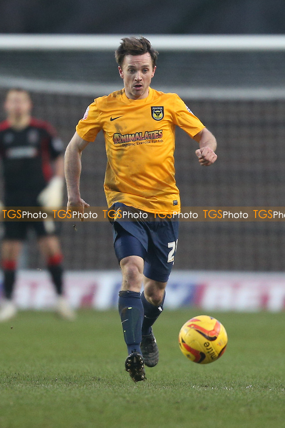 David Connolly of Oxford United - Oxford United vs AFC Wimbledon - Sky Bet League Two Football at the Kassam Stadium, Oxford - 01/02/14 - MANDATORY CREDIT: Simon Roe/TGSPHOTO - Self billing applies where appropriate - 0845 094 6026 - contact@tgsphoto.co.uk - NO UNPAID USE