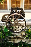 BELIZE, Punta Gorda, Toledo, old artifacts outside of Belcampo Belize Lodge and Jungle Farm