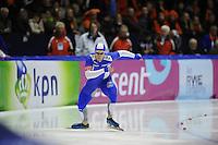 SCHAATSEN: HEERENVEEN: Thialf, Essent ISU World Cup, 02-03-2012, 500m Men, Pekka Koskela (FIN), ©foto: Martin de Jong