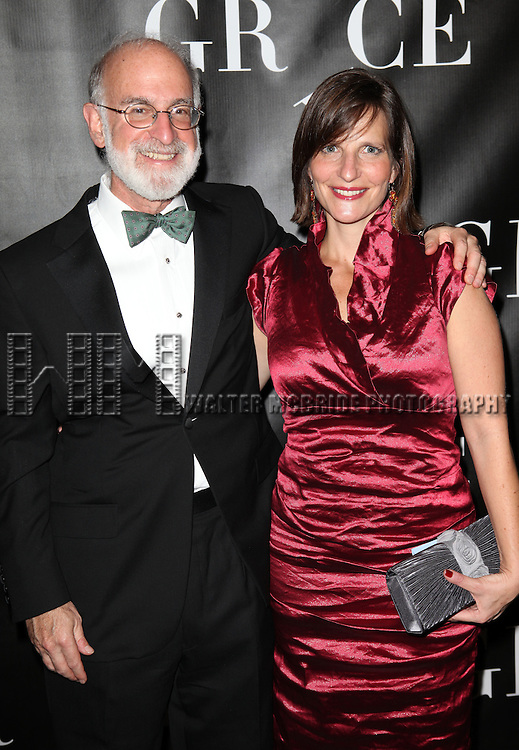 Debbi Bisno and Husband attending the Opening Night Performance of 'Grace' at the Cort Theatre in New York City on 10/4/2012.