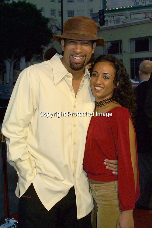 "©2002 KATHY HUTCHINS/HUTCHINS PHOTO.PREMIERE OF ""WHITE OLEANDER"".GRAUMAN'S CHINESE THEATER.HOLLYWOOD, CA.OCTOBER 8, 2002..DORIAN GREGORY. AMAL KASSIM"