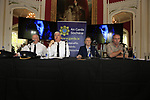 Superintendent Sean Farrell, Chief Superintendent Fergus Healy, Lord Henry Mountcharles and MCD event co-ordinator Eamon Fox at the Slane Castle Trafic Management Press Conference for Metallica concert at Slane Castle, Meath, Ireland. 30/05/2019.<br /> Picture Fran Caffrey / Newsfile.ie<br /> <br /> All photo usage must carry mandatory copyright credit (© Newsfile | Fran Caffrey)