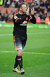 Wayne Rooney of Manchester United applauds the fans at the end of the game<br /> - Barclays Premier League - Stoke City vs Manchester United - Britannia Stadium - Stoke on Trent - England - 26th December 2015 - Pic Robin Parker/Sportimage