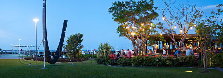 Salt House Restaurant and Bar at Marina Point.  Cairns, Queensland, Australia