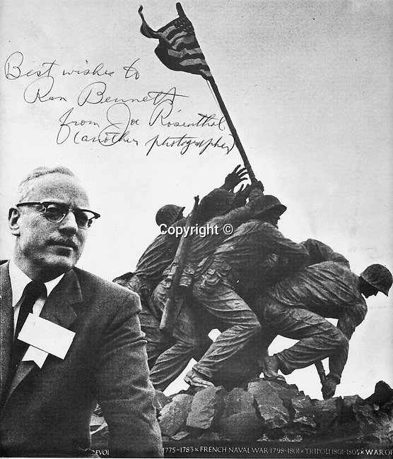 "Joseph John Rosenthal, Joe Rosenthal, Joseph Rosenthal, American photgrapher, pulitzer Prize, World War II, Raising the Flag on Iwo Jima, Battle of Iwo Jima, picture became best-known photograph of the war, Washington DC, San Francisco California, San Francisco News, U.S. Aossociate Press Pacific Theater of Operations, embedded journalist, flag-raising photo, February 23, 1945, Marines landed at Iwo Jima, Mount Suribachi, Speed Graphic camera, flag flying, ""I took the picture the Marines took Iwo Jima, The Iwo Jima Memorial Arlington Virginia, San Francisco Chronicle,"