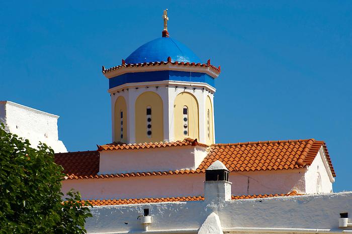 The 17th century Greek Orthodox Monatery of Chrysoleontissa, Aegins, Greek Saronic Islands.