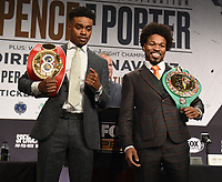 LOS ANGELES - SEPTEMBER 25: ErrolSpence Jr. and Shawn Porter attend the final press conference for their September 28 fight on the Fox Sports PBC Pay-Per-View fight night on September 25, 2019 in. Los Angeles, California. (Photo by Frank Micelotta/Fox Sports/PictureGroup)