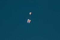 SÃO PAULO, SP, 10.05.2020: Balões sobrevoando o céu de SP - Vista de Balões sobrevoando o cèu de na manhã deste domingo (10) no bairro de Perus zona noroeste da cidade de São Paulo.