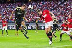 Solna 2013-08-06 Football Friendly Game , AIK - Manchester United FC :  <br /> AIK 2 Niklas Backman i en nickduell med Manchester United 16 Michael Carrick <br /> (Foto: Kenta J&ouml;nsson) Nyckelord:  portr&auml;tt portrait