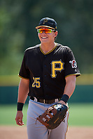 Pittsburgh Pirates Mason Martin (25) during a Florida Instructional League game against the Detroit Tigers on October 2, 2018 at the Pirate City in Bradenton, Florida.  (Mike Janes/Four Seam Images)