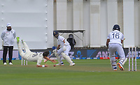 Trent Boult tries to catch India's Mayank Agarwal during day one of the International Test Cricket match between the New Zealand Black Caps and India at the Basin Reserve in Wellington, New Zealand on Friday, 21 February 2020. Photo: Dave Lintott / lintottphoto.co.nz