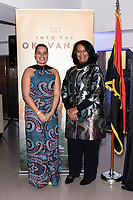 "NEW YORK CITY - APRIL 22:  Adjani Costa and Angela Bragança Minister of tourism Angola attend National Geographic's ""Into The Okavango"" panel at Tribeca Film Festival at Tribeca Festival Hub on April 22, 2018 in New York City. (Photo by Anthony Behar/National Geographic/PictureGroup)"