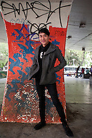 Jeser Gomez Baitolon (21 years old). Portraits of Adolescents San Cosme skate park, in Mexico City. Release #29