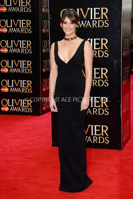 WWW.ACEPIXS.COM<br /> <br /> April 12 2015, London<br /> <br /> Gemma Arterton arriving at The Olivier Awards 2015 at Royal Opera House on April 12 2015 in London<br />  <br /> By Line: Famous/ACE Pictures<br /> <br /> <br /> ACE Pictures, Inc.<br /> tel: 646 769 0430<br /> Email: info@acepixs.com<br /> www.acepixs.com