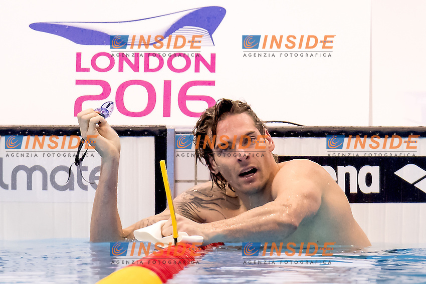 Camille LACOURT FRA France<br /> 100 backstroke men<br /> London, Queen Elizabeth II Olympic Park Pool <br /> LEN 2016 European Aquatics Elite Championships <br /> Swimming day 02 finals<br /> Day 09 17-05-2016<br /> Photo Giorgio Scala/Deepbluemedia/Insidefoto