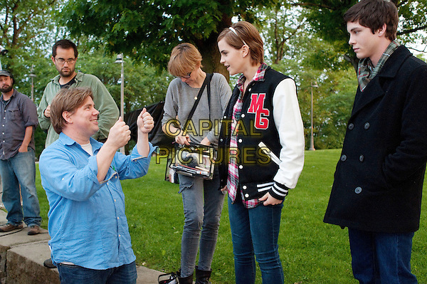 Director STEPHEN CHBOSKY, EMMA WATSON & LOGAN LERMAN.on the set of The Perks of Being a Wallflower (2012) .*Filmstill - Editorial Use Only*.CAP/FB.Supplied by Capital Pictures.