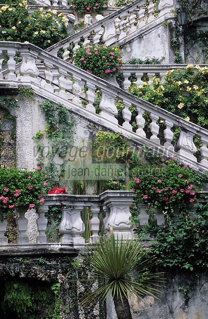 Europe/Italie/Lac de Come/Lombardie/Tremezzo : Villa Carlotta (XVIII°) - Le jardin