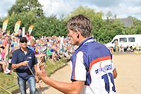 FIERLJEPPEN: WINSUM: 10-08-2013, Fries kampioenschap Fierljeppen, Ysbrand Galama, ©foto Martin de Jong