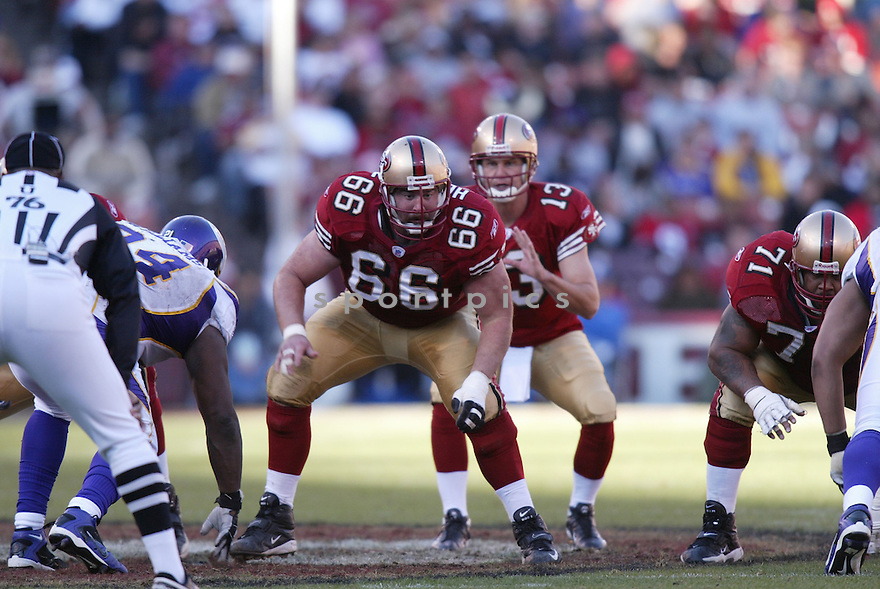 ERIC HEITMANN, of the San Francisco 49ers  in action during the 49ers game against the Minnesota Vikings on December 9, 2007 in San Francisco, California...VIKINGS win 27-7..SportPics