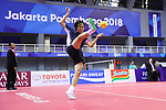 Sawa Aoki (JPN), <br /> AUGUST 30, 2018 - Sepak takroae : <br /> Women's Quadrant match between Japan - Vietnam<br /> at Jakabaring Sport Center Ranau Hall <br /> during the 2018 Jakarta Palembang Asian Games <br /> in Palembang, Indonesia. <br /> (Photo by Yohei Osada/AFLO SPORT)