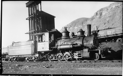 D&amp;RGW #271 switching at Durango.<br /> D&amp;RGW  Durango, CO  Taken by Perry, Otto C. - 7/4/1938