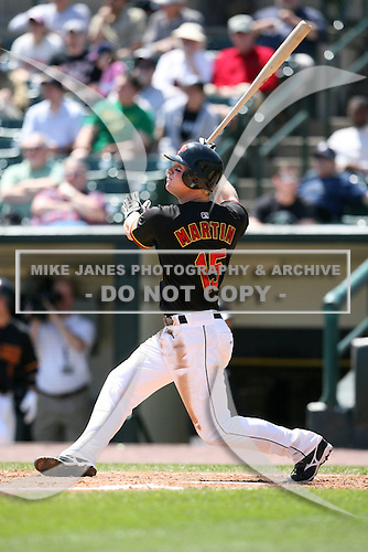 May 12, 2009:  Left Fielder Dustin Martin of the Rochester Red Wings, International League Class-AAA affiliate of the Minnesota Twins, at bat during a game at Frontier Field in Rochester, FL.  Photo by:  Mike Janes/Four Seam Images