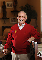 NWA Democrat-Gazette/ANDY SHUPE<br /> John Brodbeck of Springdale has been a member of the Rotary Club since 1967 and has traveled the world to visit other clubs and take part in the organization's charitable work. Tuesday, Jan. 10, 2017.