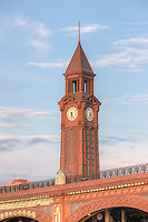 The Erie Lackawanna Terminal Clock Tower, Hoboken, New Jersey.