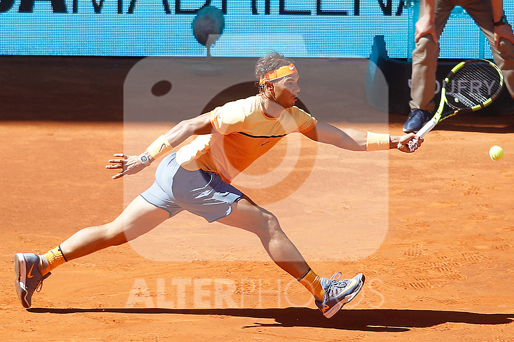 Rafael Nadal, Spain, during Madrid Open Tennis 2016 match.May, 3, 2016.(ALTERPHOTOS/Acero)