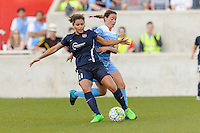 Bridgeview, IL - Sunday May 29, 2016: Sky Blue FC forward Raquel Rodriguez (11) and Chicago Red Stars midfielder Taylor Comeau (7). The Chicago Red Stars and Sky Blue FC played to a 1-1 tie during a regular season National Women's Soccer League (NWSL) match at Toyota Park.