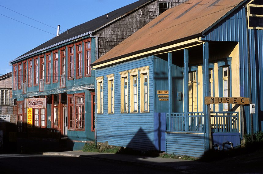 HISTORIC MUSEUM and HOTEL HUILDEN in CHONCHI, a village on CHILOE ISLAND - PATAGONIA, CHILE
