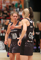 28.01.2017 Silver Ferns Grace Rasmussen takes to the court during the Silver Ferns v Australian Diamonds netball test match played at the International Convention Centre studium in Durban, South Africa.<br />  Mandatory Photo Credit ©Reg Caldecott/Michael Bradley Photography.