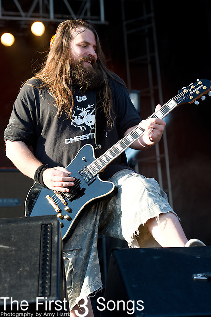Mark Morton of Lamb of God performs during the 2013 Rock On The Range festival at Columbus Crew Stadium in Columbus, Ohio.