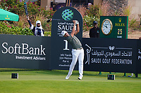 Christiaan Bezuidenhout (RSA) on the 1st during Round 4 of the Saudi International at the Royal Greens Golf and Country Club, King Abdullah Economic City, Saudi Arabia. 02/02/2020<br /> Picture: Golffile | Thos Caffrey<br /> <br /> <br /> All photo usage must carry mandatory copyright credit (© Golffile | Thos Caffrey)
